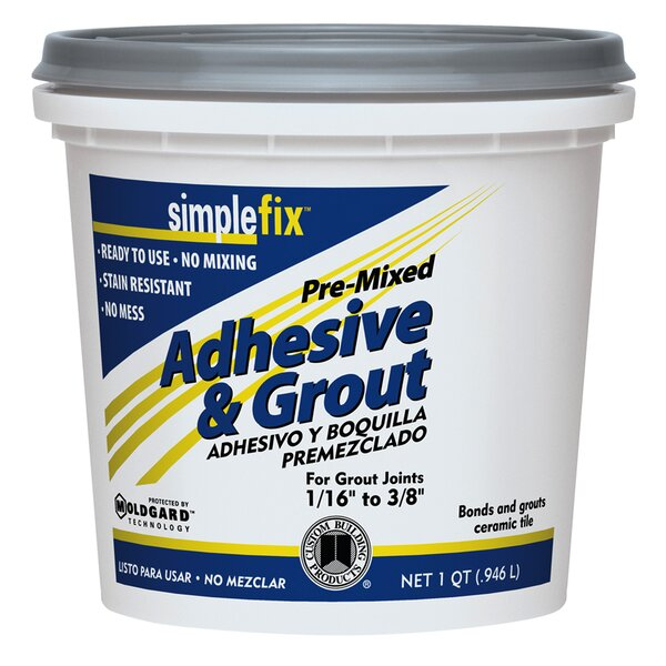 Premixed Adhesive and Grout 1 Quart (Set of 6) by Custom Building Products