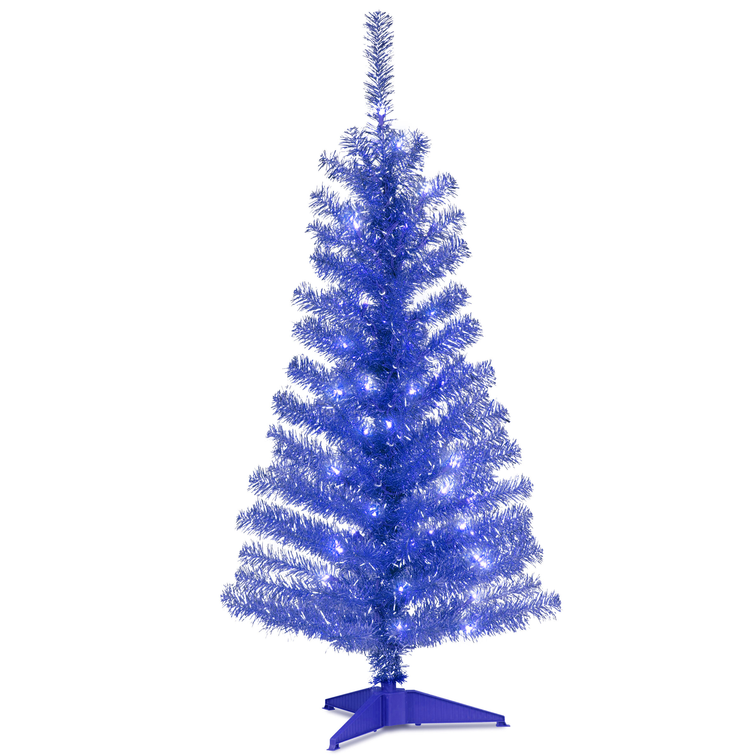 National Tree Co Tinsel Trees 4 Blue Artificial Christmas Tree