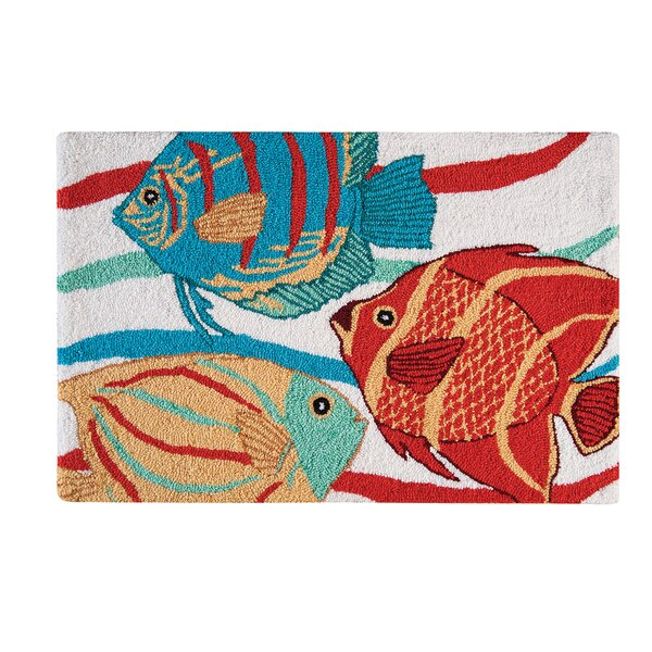 Rema Tropical Blue Area Rug by Highland Dunes