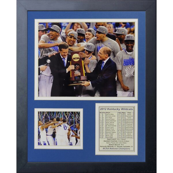 2012 Kentucky Wildcats Champions - Podium Framed Photographic Print by Legends Never Die