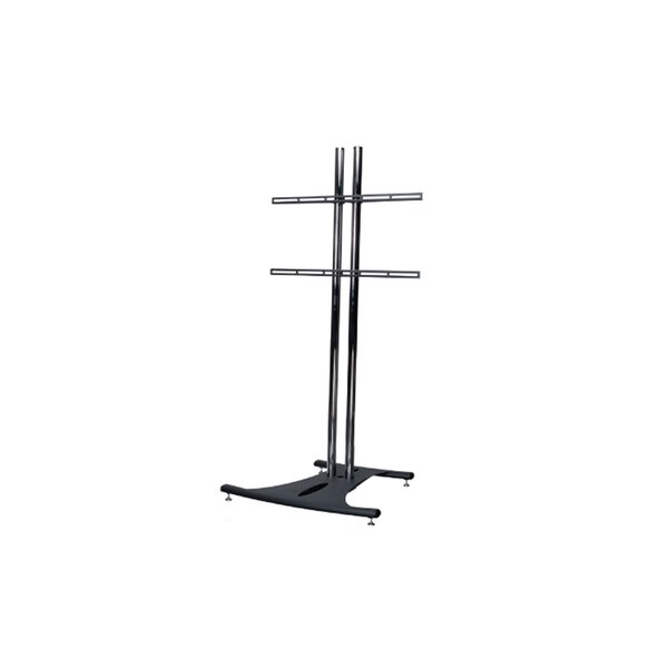 Floor Stand with 60 Dual Poles and Fixed Universal Mounting Arms by Premier Mounts