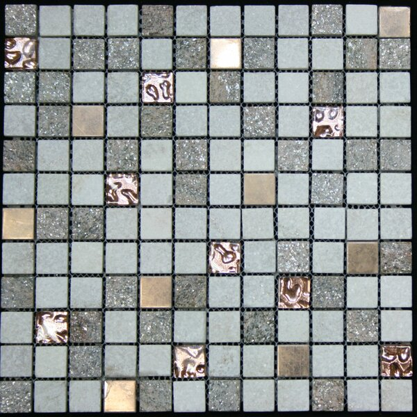 Glass Metal Tile in Multi-Color by Legion Furniture