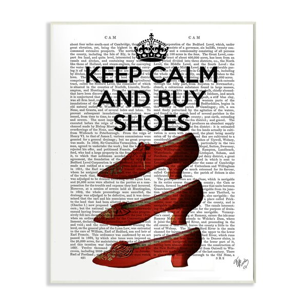 Keep Calm And Buy Shoes Vintage Advertisement by Stupell Industries