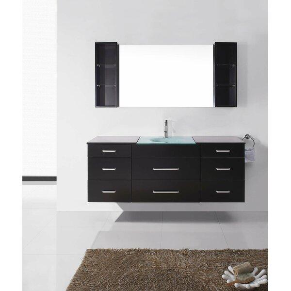 Caspar 63 Single Bathroom Vanity Set with Mirror by Orren Ellis