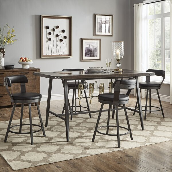 Craighead 5 Piece Counter Height Dining Set by Williston Forge