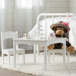 Lourdes 3 Piece Square Table and Chair Set & White Kids\u0027 Table \u0026 Chair Sets You\u0027ll Love