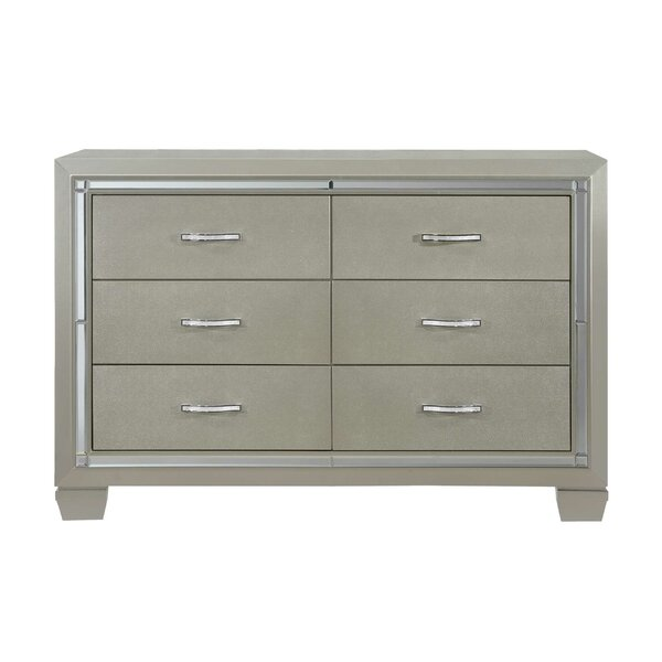 Quattlebaum 6 Drawer Double Dresser by Harriet Bee