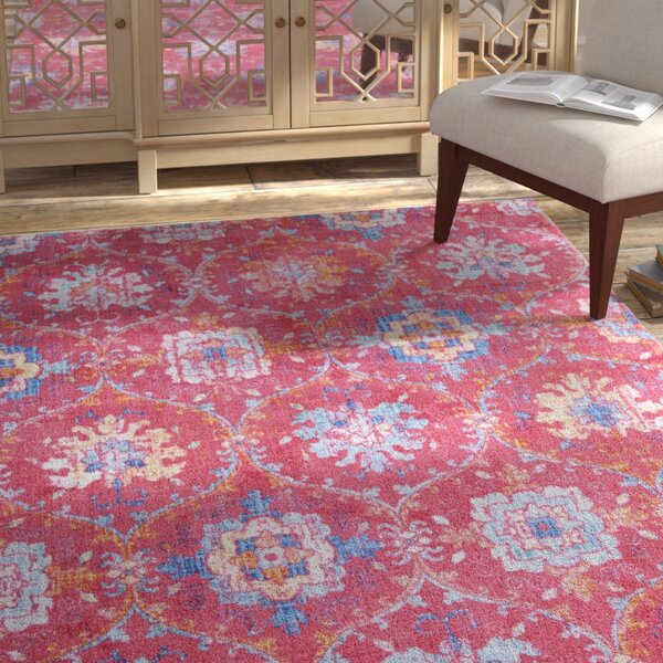 Dario Pink Area Rug by Bungalow Rose