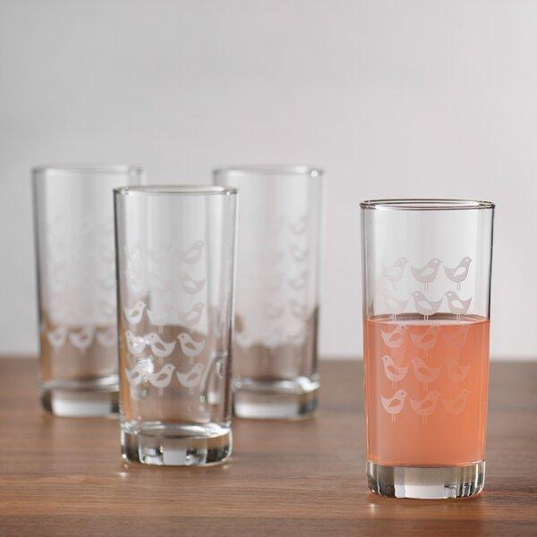 San Pasqual Mod Bird Hiball Glass (Set of 4) by Langley Street