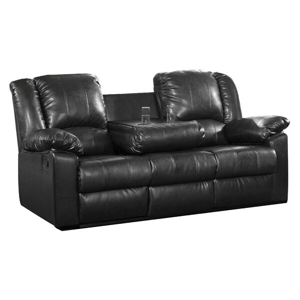 Arely Leather Reclining Sofa by Red Barrel Studio