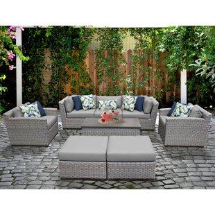 Florence 8 Piece Sofa Seating Group with Cushions By TK Classics