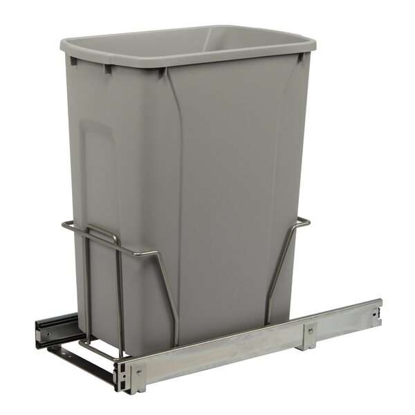 Single Pull-Out 8.75 Gallon Trash Can by Knape&Vogt