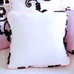 Chambord Cotton Throw Pillow by Blueberrie Kids