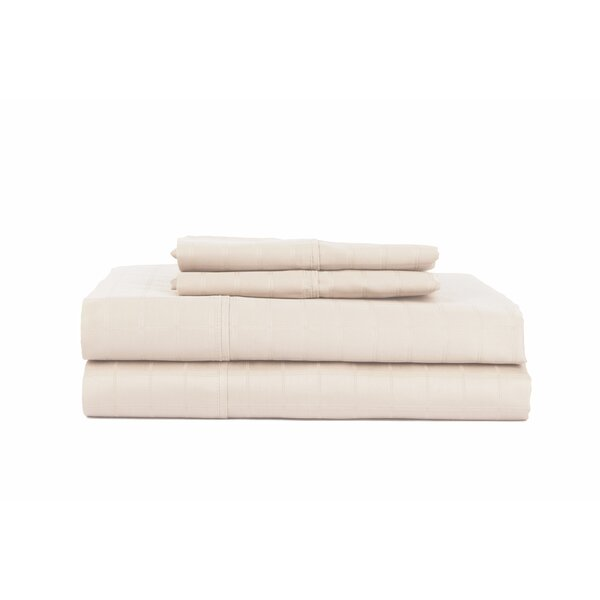 Hobbes 4 Piece 450 Thread Count Egyptian Quality Cotton Sheet Set by The Twillery Co.