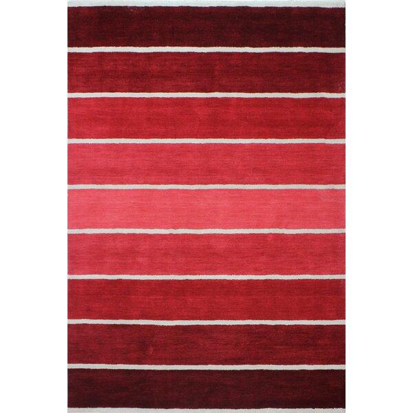 Romo Handmade Wool Red Area Rug by Latitude Run