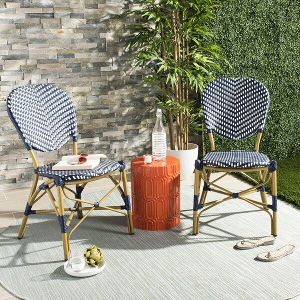 Lintgen French Stacking Patio Dining Chair (Set Of 2) By Bungalow Rose