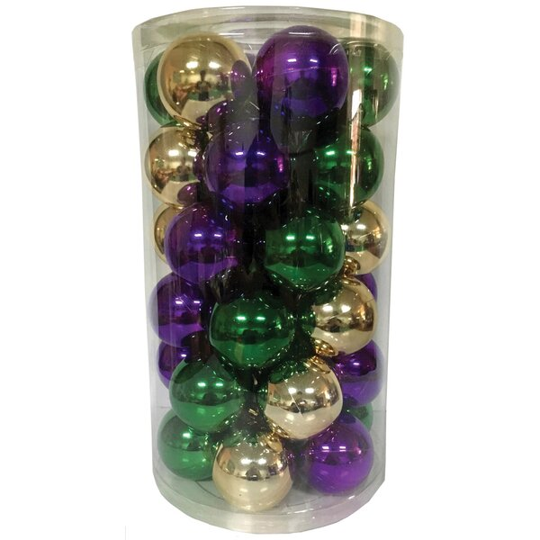 3Ball Ornament Set (Set of 36) by The Holiday Aisle