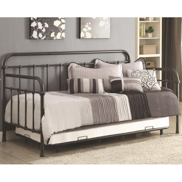 Mayo Metal Twin Daybed with Trundle by Gracie Oaks