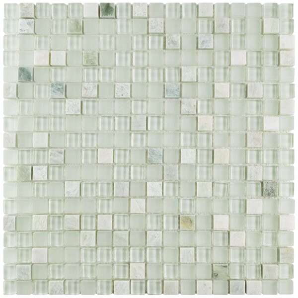Sierra 0.58 x 0.58 Glass and Natural Stone Mosaic Tile in Ming by EliteTile