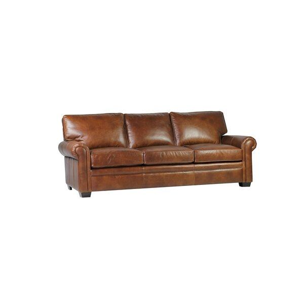 Coggins Leather Sofa by Williston Forge