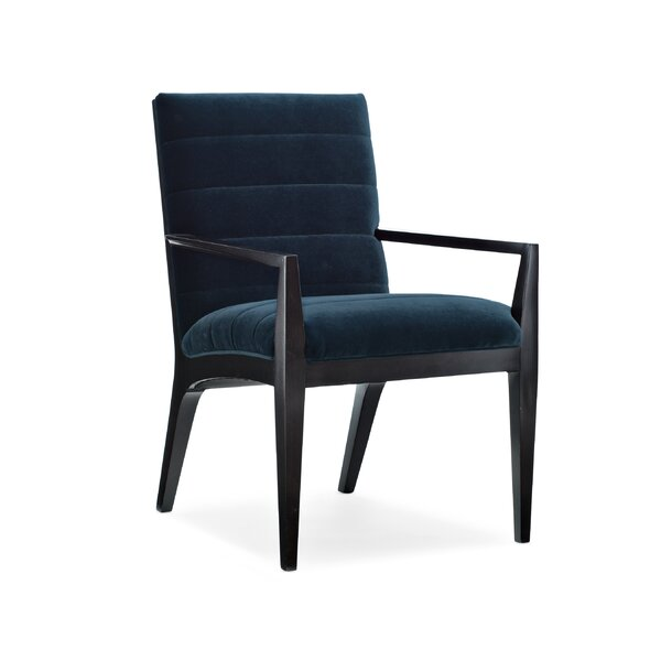 Modern Edge Upholstered Arm Chair In Black By Caracole Modern