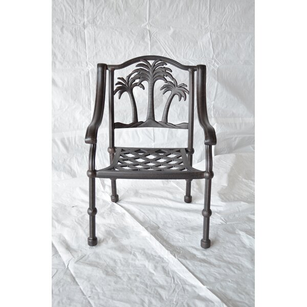 Maccharles Patio Dining Chair with Cushion by Bayou Breeze