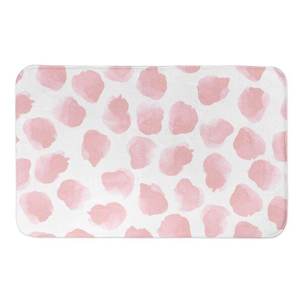 Onecre Watercolor Dots Rectangle Non-Slip Bath Rug