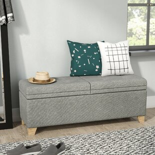 Read Reviews Nixon Upholstered Storage Bench by Mercury Row