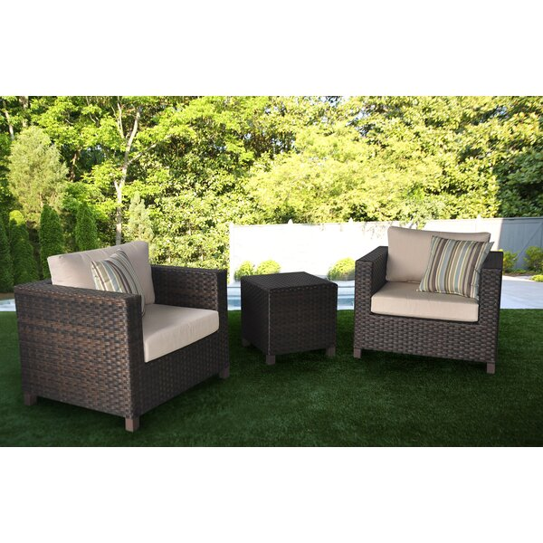 Borel 3 Pieces Rattan Seating Group by Wrought Studio