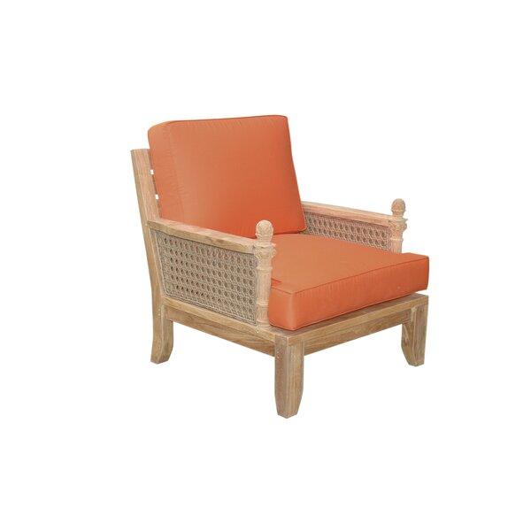 Bowyer Teak Patio Chair with Sunbrella Cushions by Freeport Park