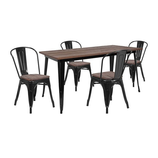 Mullikin 5 Piece Dining Set by Williston Forge