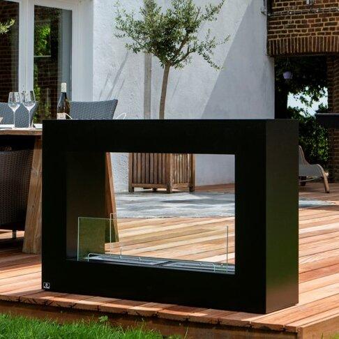 Qube Stainless Steel Bio-Ethanol Fuel Outdoor Fireplace by Bio-Blaze