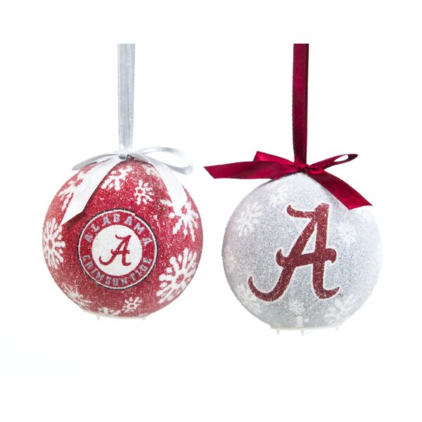 NCAA LED Boxed Ornament Set by Team Sports America