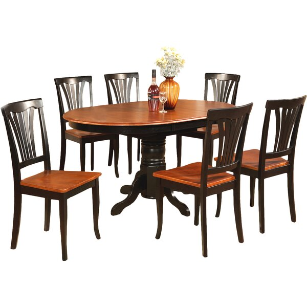 Square 7 Piece Solid Wood Dining Set by August Grove