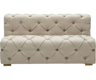 Pratt Tufted Twill Armless Loveseat