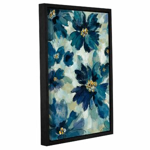 'Inky Floral I' Framed Print on Canvas by August Grove
