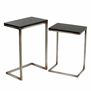 Shofner 2 Piece Iron/Stone End Table Set by Willa Arlo Interiors