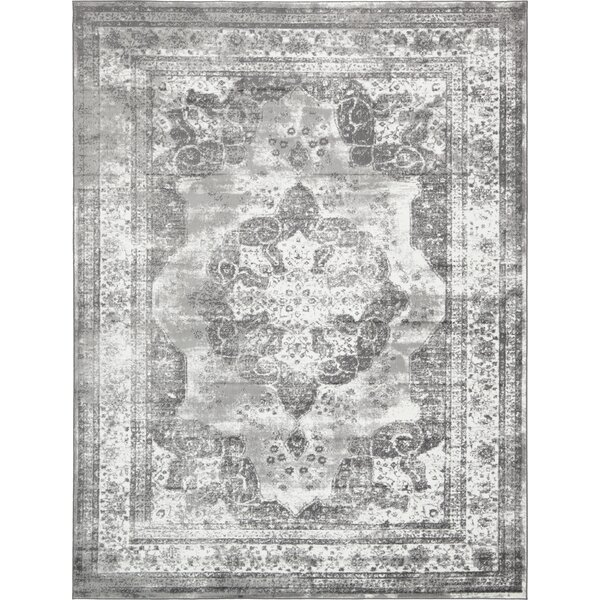 Brandt  Machine Woven Indoor Gray Area Rug by Mistana