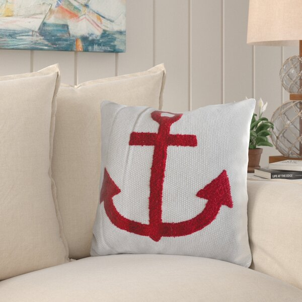 Williford Anchor Cotton Throw Pillow by Breakwater Bay