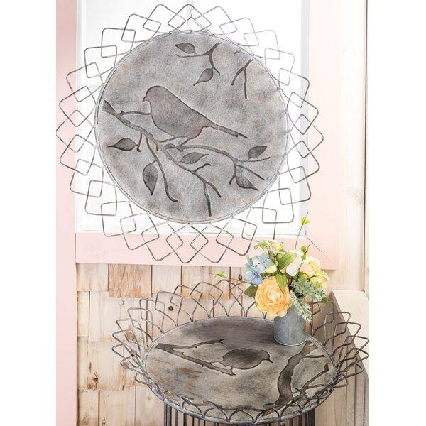 Chasteen Bird Design 2 Piece Basket Vanity Tray Set by August Grove