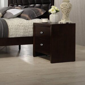 Gloria 2 Drawer Nightstand by Roundhill Furniture