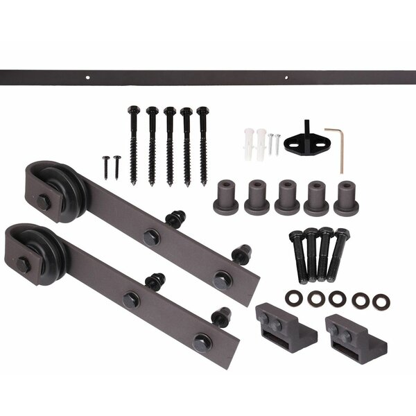 Bent Strap Sliding Barn Door Hardware Set by Calhome
