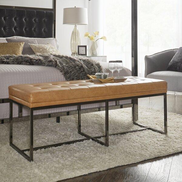 Fadrique Solid Tufted Top Metal Bench by Willa Arlo Interiors
