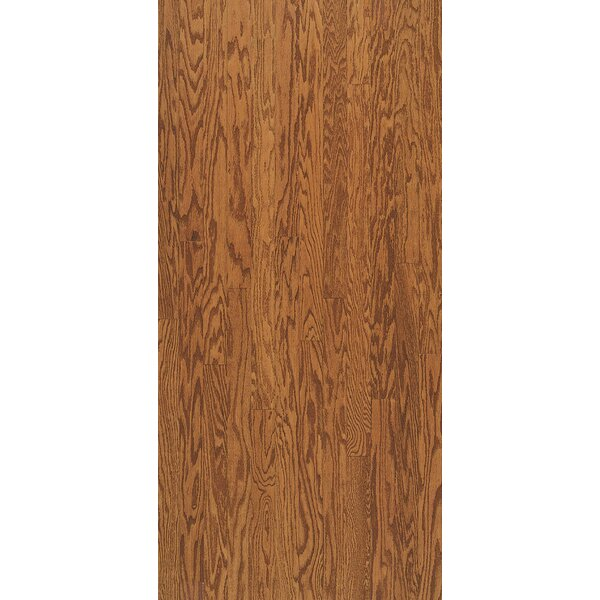 Turlington 5 Engineered Oak Hardwood Flooring in Low Glossy Gunstock by Bruce Flooring