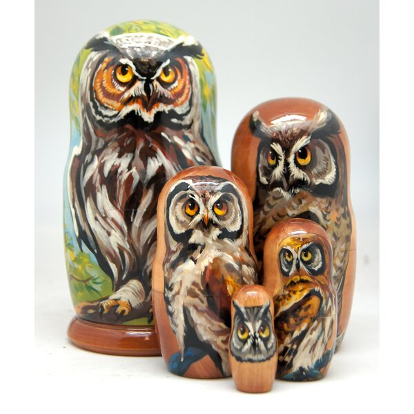 Vandermark Owl 5 Piece Nested Doll Set by Millwood Pines