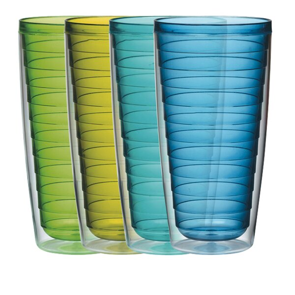 4 Piece 24 oz. Plastic Every Day Glass Set by Bost