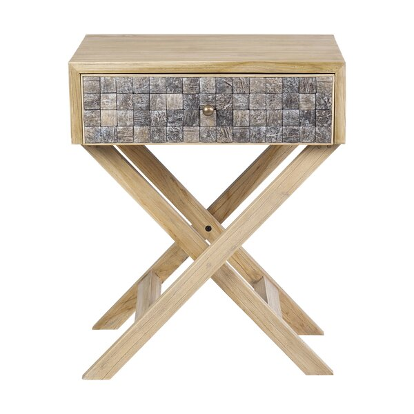 Swan End Table by Union Rustic