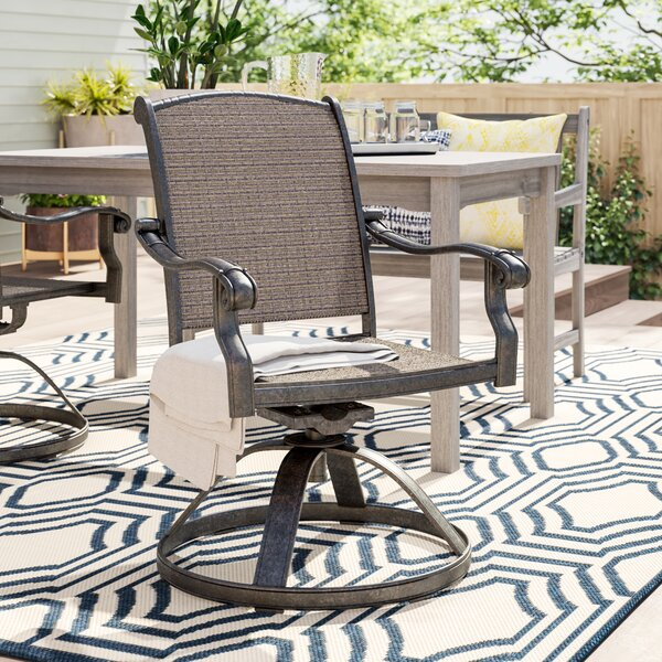 Harland Swivel Patio Dining Chair by Sol 72 Outdoor