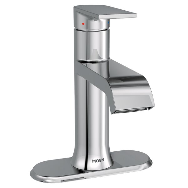Genta Single Hole Bathroom Faucet with Drain Assembly by Moen Moen