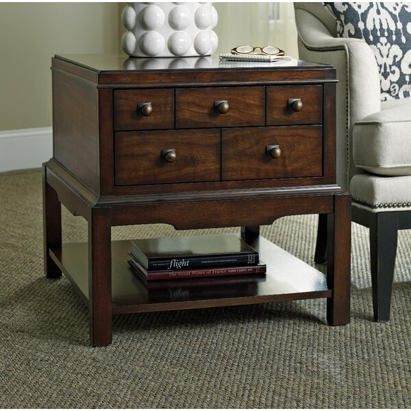 Palisade End Table with Storage by Hooker Furniture